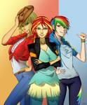 Three cool girls of Equestria Girls