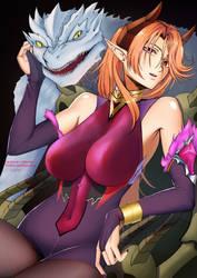 Kaijuu and Succubus by RittaruZira