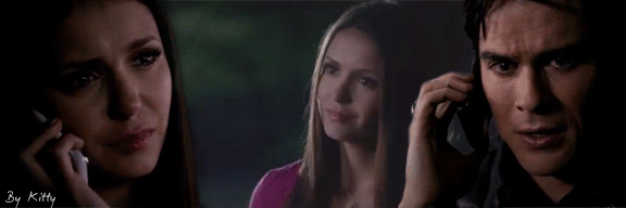 Delena the first meet by Kittygifs