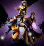 Xmen - Wolverine Rouge Gambit by NhtgkcN