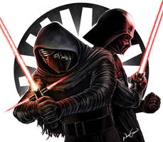 Kylo Ren V Darth Vader by NhtgkcN