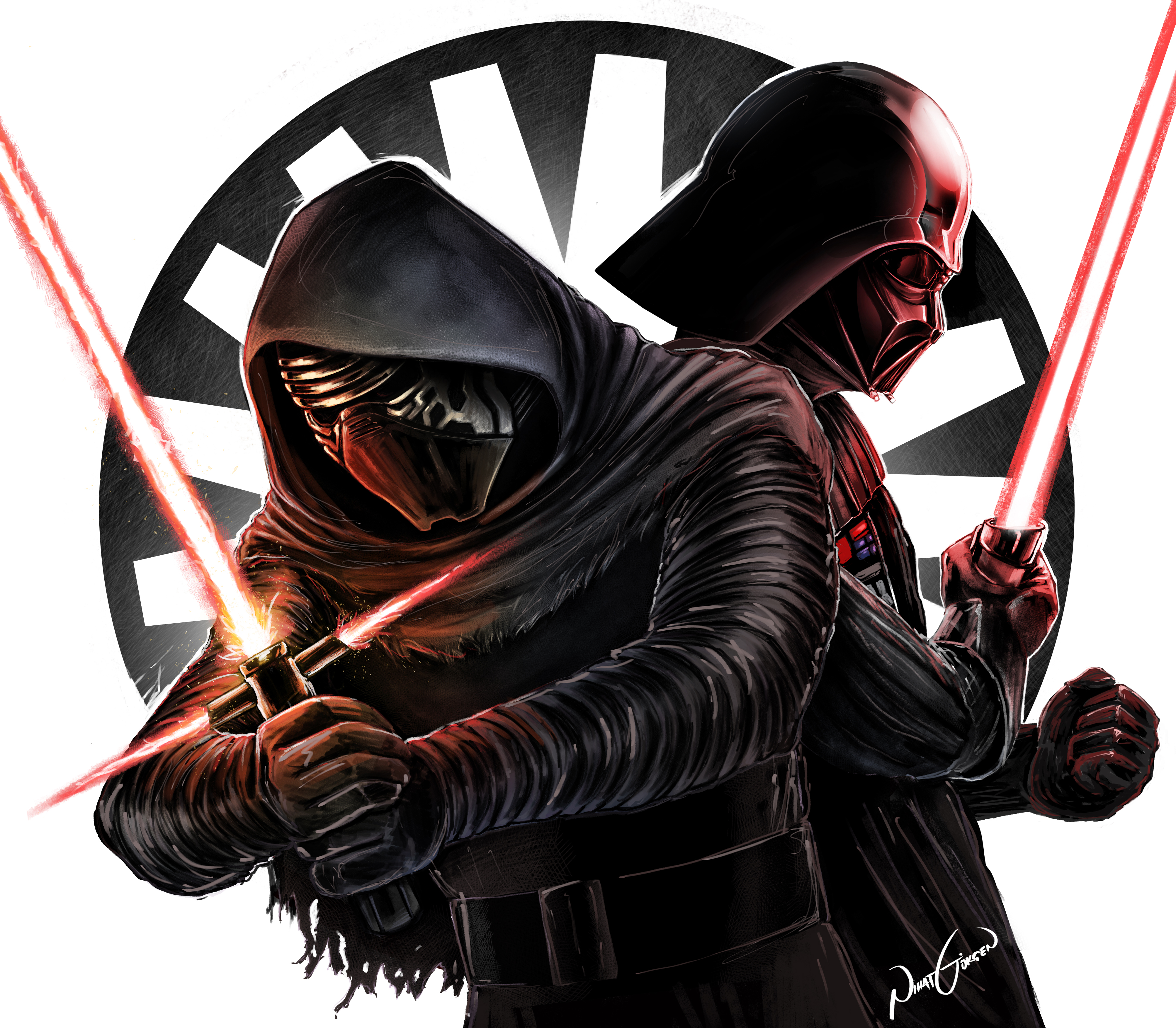 """""""Alien"""" (Independence Day 2) Vs Darth Vader And Kylo Ren"""