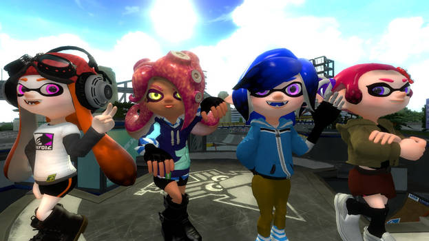 Splat Girlz Pose