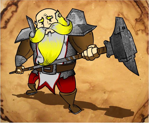 BroGar - Dwarf Paladin by Pixel-Excel
