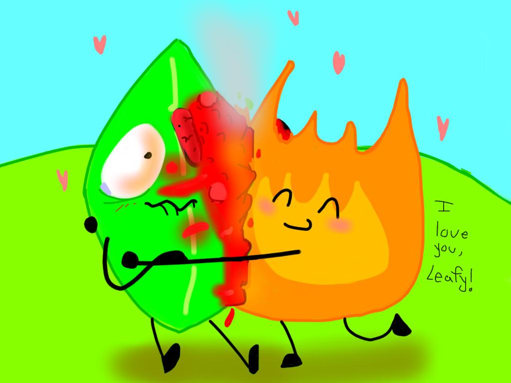 Firey loves Leafy a lot by rubaluxtier on DeviantArt