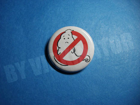 Sad Ghost Pinback Button