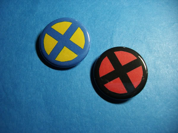 X-Men Logo Buttons by vickinator