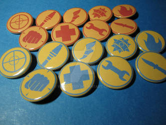 Team Fortress 2 Emblems Pinback Buttons