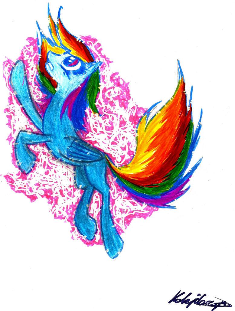 Rainbow Dash by Kalejdoscpe