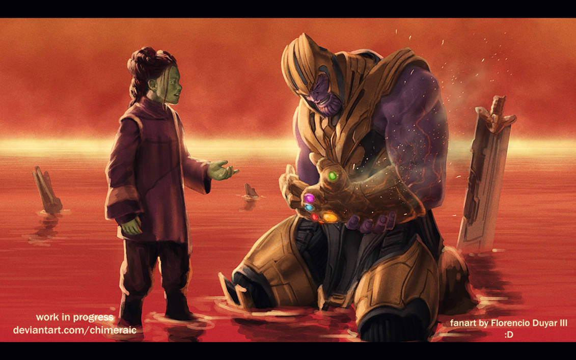 Avengers: Endgame - Thanos by chimeraic