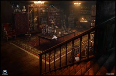 Steampunk Laboratory by VladMRK