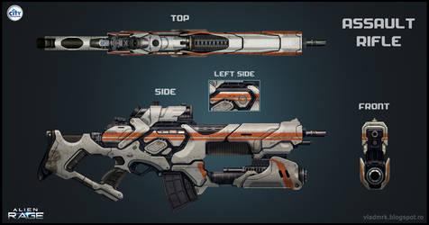 Human Assault Rifle by VladMRK