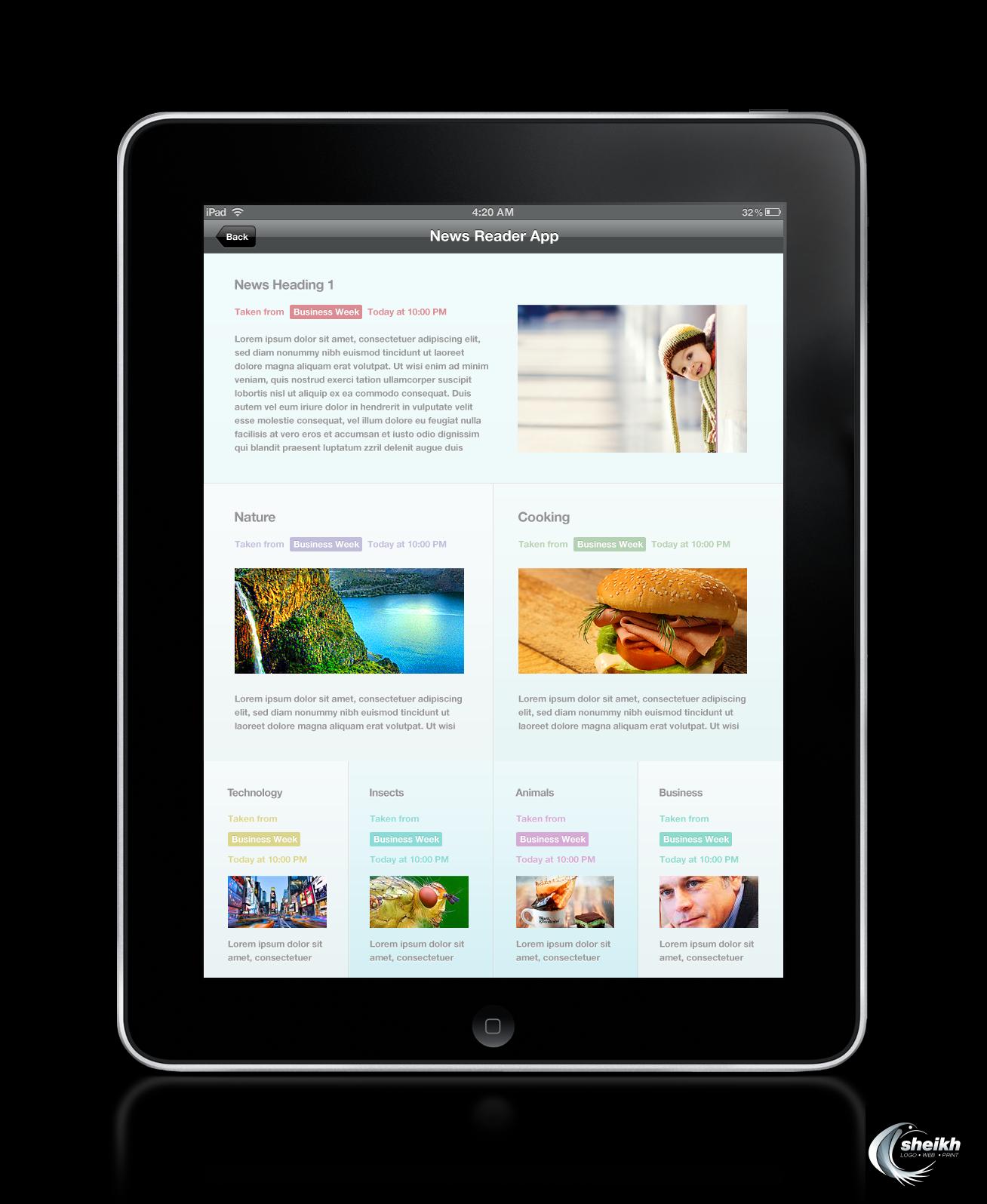 News Reader Ipad App Design by SheikhNaveed on DeviantArt