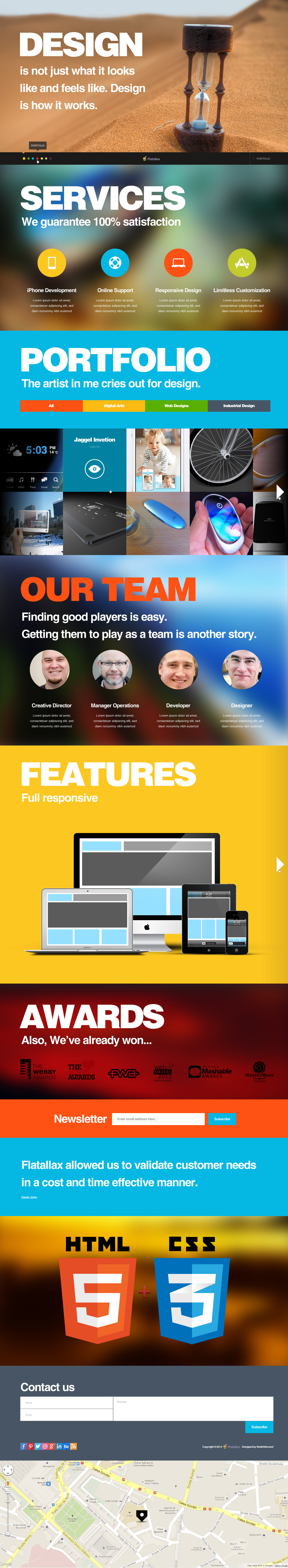 One page parallax theme for ThemeForest by SheikhNaveed