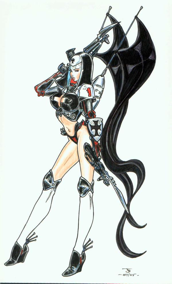 Futuristic Warrior Anime Space commando girl by stvkarAnime Futuristic Warrior