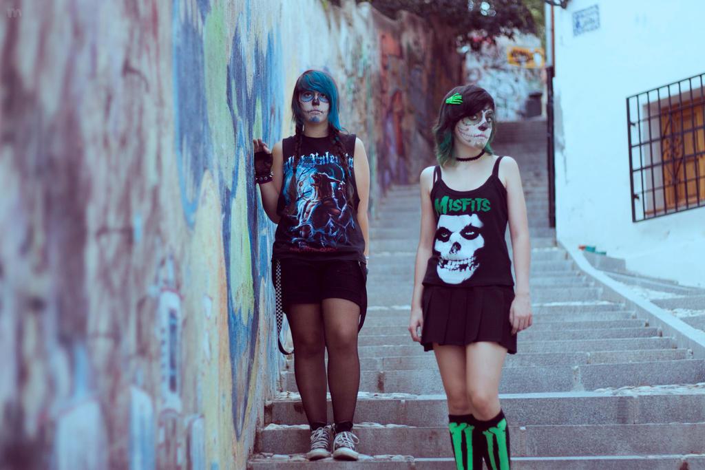 Walking Down The Street by Mrs-DarkDonado