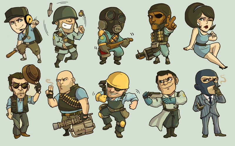 TF2 BLU Team by amasugiru