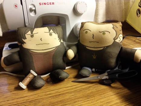 SPN Winchester Bros Pillow Plushies