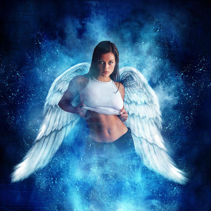 Bellas chicas con alas.(Arte variado).