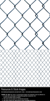 Chain linked diamond mesh fence - png + psd