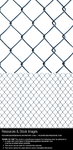 Chain linked diamond mesh fence - png + psd by RGDart