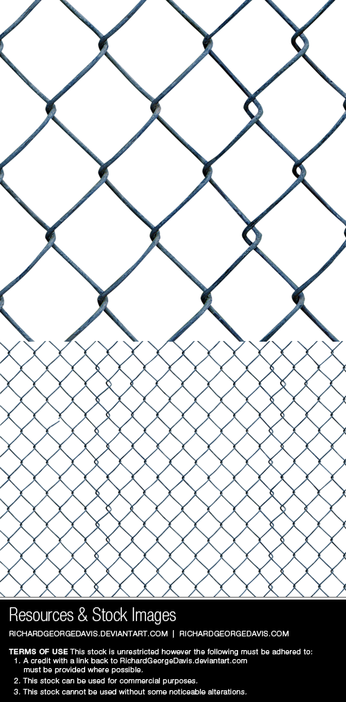 Chain linked diamond mesh fence - png + psd by RGDart on DeviantArt