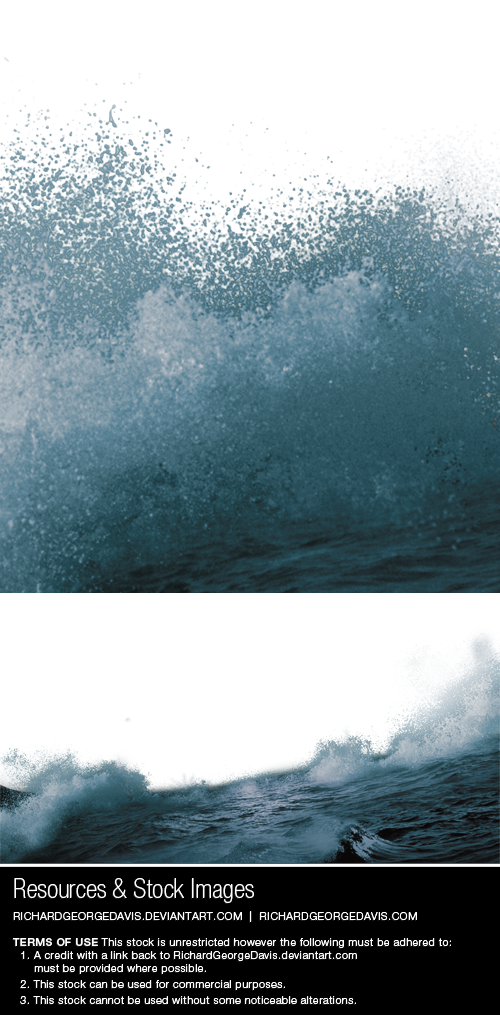 Ocean Waves - png + psd by RichardGeorgeDavis