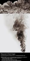 Black smoke - Stock image and transparent png
