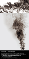 Black smoke - Stock image and transparent png by RGDart
