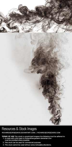 Black smoke - Stock image and transparent png