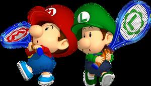 Baby Mario Bros. Tennis