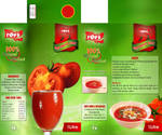 tomato juice packagigng