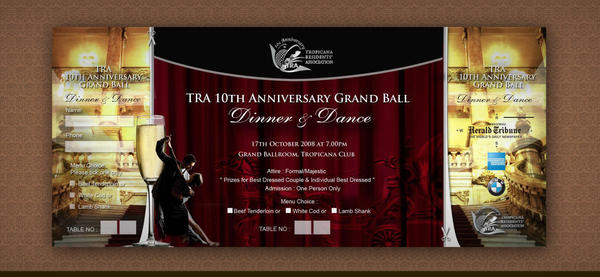 TRA Dinner and Dance Ticket by weathered83 on DeviantArt – Dinner Ticket Template