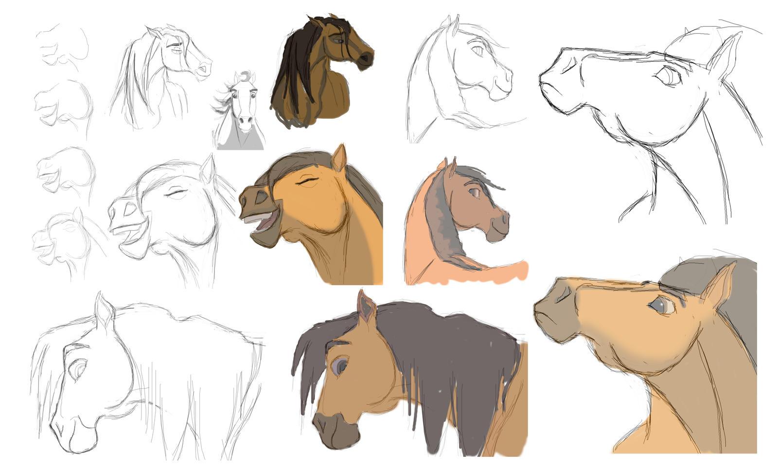 Spirit Sketches - Edited by Nollaig on DeviantArt  Spirit Sketches...