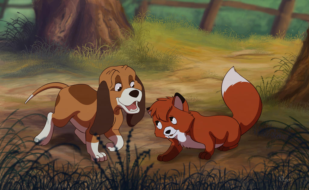 The Fox and The Hound by Nollaig on DeviantArt