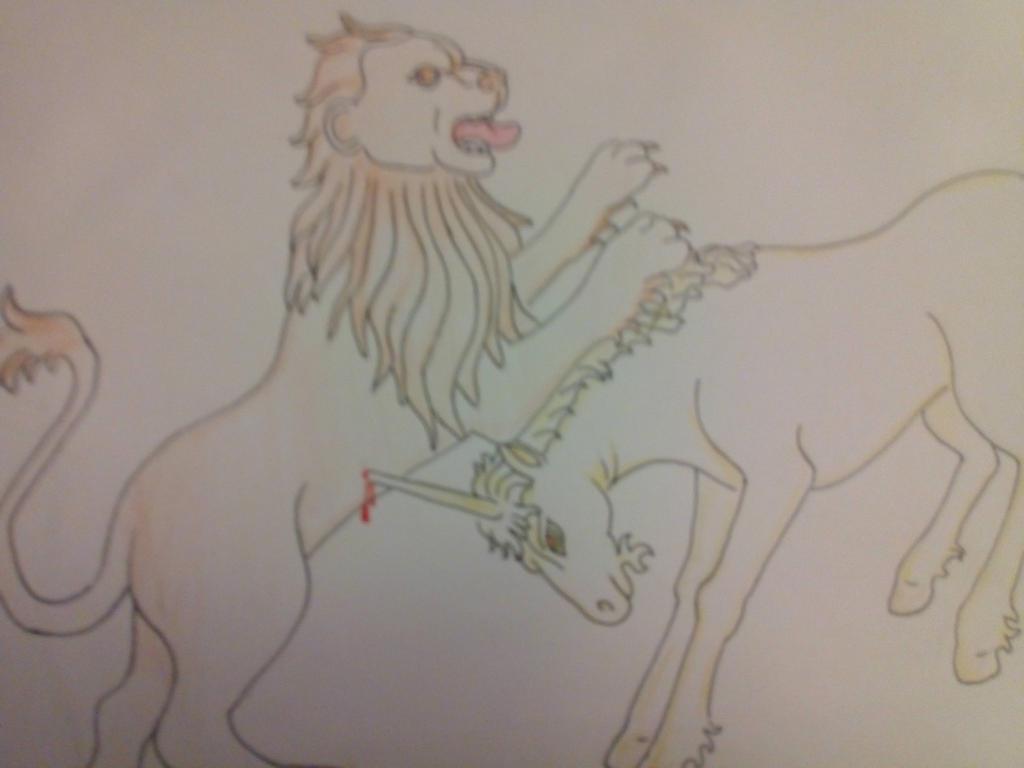 Lion vs Unicorn. by Black-Ink-Princess