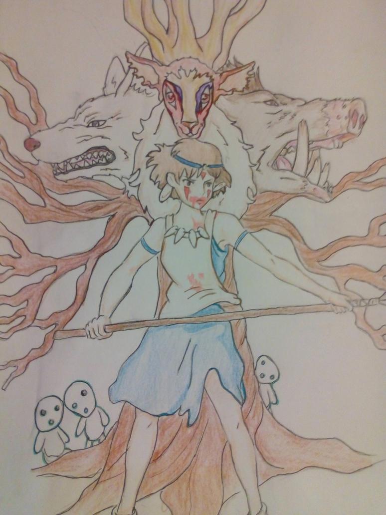 Princess Mononoke by Black-Ink-Princess