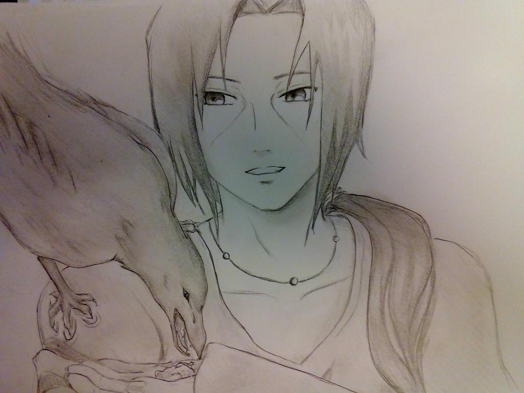 Itachi sketch. by Black-Ink-Princess