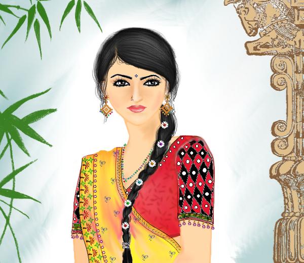 Village Girl by Madhuchhanda
