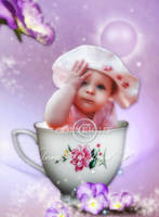 A little girl in a cup. by arbirtra