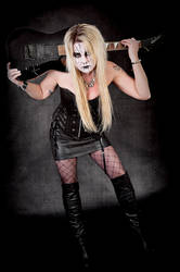 Black Metal Barbie by arbirtra