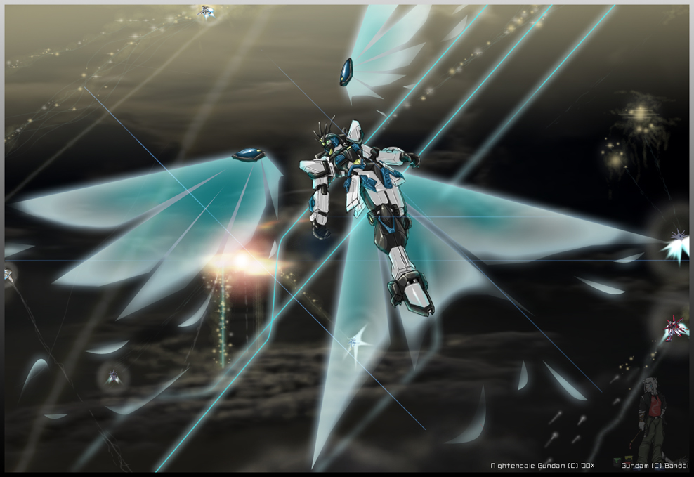 Nightingale gundam by jan-michael9500