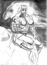 muscle manga girl scrap by daikichikitsune