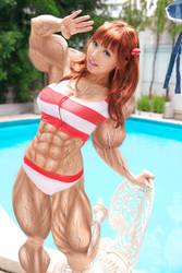Muscular-asuka-cosplayer by daikichikitsune