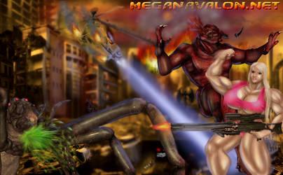 Megan's-ArmageDOOM! by daikichikitsune