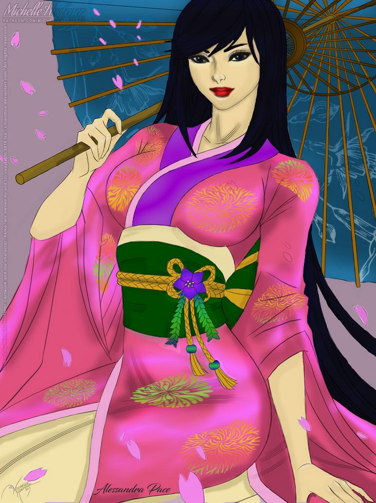 Color:Akiko   Line Art By Michellehoefener by AlmaChiaraAlex