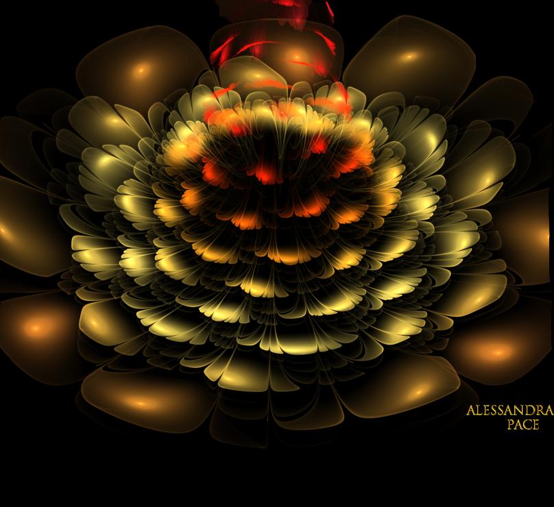 Flame Rose 3 d by AlmaChiaraAlex