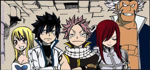 Fairy Tail Chapter 266-Erza,Gray,Natsu,Lucy,Elman