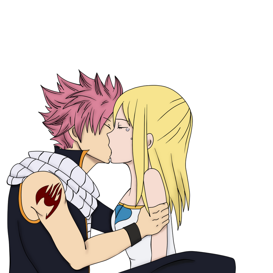 Fairy Tail - Natsu and Lucy kiss by Natsu9555 on DeviantArt