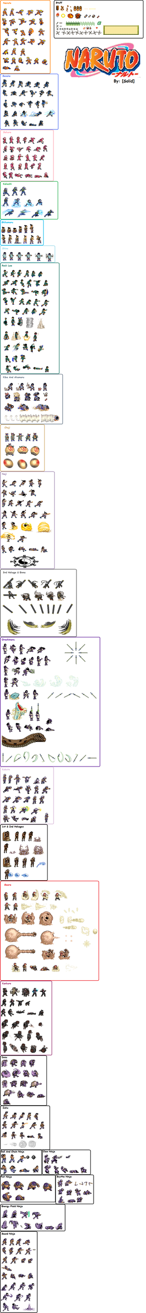 Naruto Sprites by Solidishness